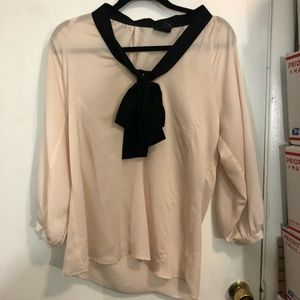 Central Park West Pussywillow Bow Blouse